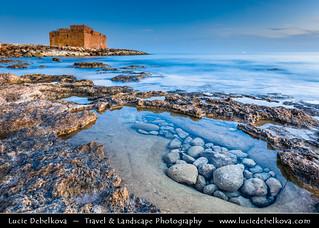 Cyprus - Paphos Fort - Medieval castle at Dusk