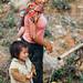 Mother and Children Doing Laundry, Nam Nga Laos