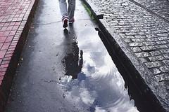 River Street (ekmooree) Tags: savannah georgia river walk shoe feet puddle rain ripples sidewalk street bricks stone walkway reflection water