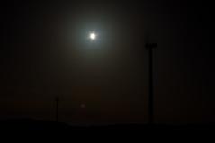 Mondkraftanlagen (montagestaender) Tags: windkrafträder turbines mond moon night nacht light licht sky himmel saarland pentax pentaxkx