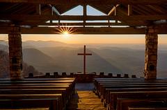 Lift Up Mine Eyes (karenhunnicutt) Tags: sunrise blueridgemountains church chapel outdoorchurch clevelandsc fredsymmeschapel karenhunnicuttphotographycom fineartphotographer
