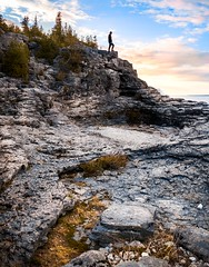 Having the whole place to yourself (dan sedran) Tags: ontario landscape landscapephotography outdoors outdoor water rocks rockformations rockformation travel traveldestinations canada tobermory perspective people adventurepeople adventure wanderlust warm sunset bluesky bluehour goldenlight goldenhour landscapes landscapenature nature nationalgeographic naturephotography naturallight nationalpark nationalparks exploring exploration explore peaceful relaxing light lines leadinglines gh4 photography panasonic places amazingplaces amazinglandscapes amazing amzingview lumix