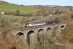 Photo of 153305 + 153361 - Clinnick Viaduct, Glynn Valley.