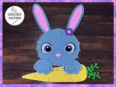 Bella the Bunny Rug Crochet Pattern by Cozy Hat #bunny #rabbit #bunnies #crochetpattern #crochet #pattern #easterbunny #easter (Anastasia wiley) Tags: instagramapp square squareformat iphoneography uploaded:by=instagram bunny rug crochet pattern rabbit easter mat decor nursery baby shower gift kids room animal pet bunnies