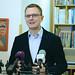 Rétvári Bence, az Emmi parlamenti államtitkára, a Kereszténydemokrata Néppárt alelnöke beszél a NépmesePontok létrehozásáról szóló sajtótájékoztatón a fővárosi I. kerületi Mesemúzeumban