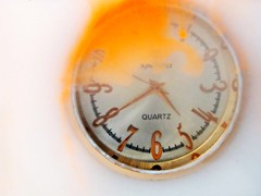 Clockwork Orange (Clare-White) Tags: orange watch water white paint numbers art drops glass abstract f64 clock timepiece time explored clockwork
