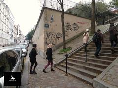 Les Abbesses (Pegasus & Co) Tags: urban woman streetart art girl festival magazine painting graffiti book stencil paste femme arts lifestyle hype bubble block hiphop graff press rue livre flop  urbain throwup tarek pochoir  presse     paristonkar paristonkarmagazine pegasusandco