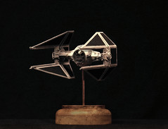 Finemolds TIE Advanced 1:72 (Shrimpkin) Tags: star miniature model conversion tie shuttle imperial wars advanced airfix revell bwing ywing finemolds