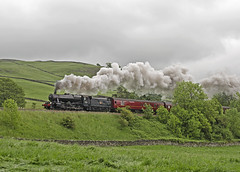 48151 Settle 05-06-14 (prof@worthvalley) Tags: uk railroad all transport railway steam locomotive types settle 8f 48151