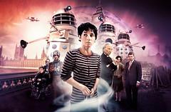 The Dalek Invasion of Earth (aquatics64) Tags: photoshop poster dvd susan doctor cover doctorwho dalek tardis invasion daleks hartnell