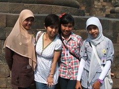 "I met lovely Islamic Girls  @ Borobudur Temple Compounds  for Buddhism in Yogyakarta • <a style=""font-size:0.8em;"" href=""http://www.flickr.com/photos/124882417@N06/14395238942/"" target=""_blank"">View on Flickr</a>"