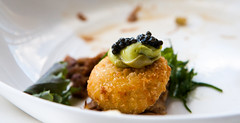 oxtail rillettes (n.a.) Tags: food london tower restaurant salad aqua starter shard croquette oxtail rillettes