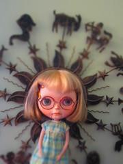 Starstruck Silly Sally (Blythe Spa Time! AKA Crystalsfordollies) Tags: silly art doll puppet sally blythe custom marionette masterpiece tiina theoriginal ebl alltheothersareimitationp