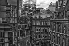 side streets from king st (0-1-6-1) Tags: uk england sky architecture manchester moody quiet rooftops stormy calm hdr offices oldandnew kingst manchestercentre