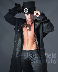 Steampunk Vincent 641Awmk (EButterfield Photography) Tags: shirtless man male men pecs muscles athletic model muscular chest victorian uomo mens torso mann biceps macho abs homem hombre torse steampunk  mannetje  maschio varn