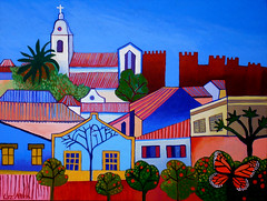 Commissioned painting (Liz Allen) Tags: portugal painting acrylic algarve silves
