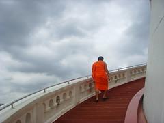 The Path towards Enlightenment(Golden Mount) (ajburgess) Tags: sky thailand golden path bangkok steps monk mount thong wat enlightenment saket maha khao phu watsaket ratcha  wihan wora