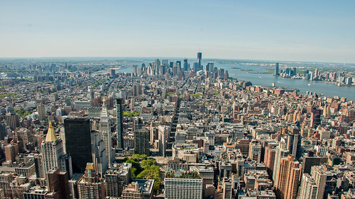New York Skyline From The Empire State Building 4k