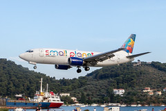 Small Planet Boeing 737 landing at Skiathos. (Martyn Cartledge / www.aspphotography.net) Tags: uk plane airplane greek fly flying airport europe aircraft aviation air small transport flight jet aeroplane greece airline planet boeing airlines runway skiathos airliner 737 martyn aerodrome b737 jsi cartledge smallplanet civilairliner civilairline lyflh aspphotography skiathios