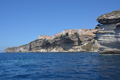 Bonifacio perched on top of limestone cliffs (Corsica, France 2014)