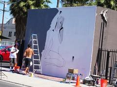 LA - Artist and the street (2) (ashabot) Tags: california street city people streetart losangeles cities streetscenes