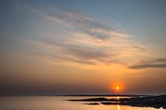 Sunset in Kerabas (Ornaim) Tags: ocean sunset sea summer sun france water clouds evening nikon brittany atmosphere bretagne tamron