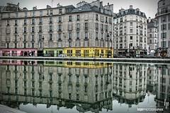 Canal Saint-Martin (hapePHOTOGRAPHIX) Tags: 250fra 250par europa europe france francia frankreich paris hapephotographix coolpix5000 schifffahrtskanal quaidejemmapes canalsaintmartin spiegelung reflexion reflection 999ref dsplyys