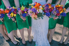 Bridal Bouquet and Bridesmaids Bouquets (Artemisia Flowers) Tags: flowers wedding flower green floral minnesota photography bride ginger colorful bright cities minneapolis twin bridesmaids dresses florist bouquet weddings bridal studios murray mn 413 | venues vendors florists artemisia wacouta httpwwwartemisiastudioscom