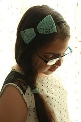 girl (ghazalkohandel) Tags: kids hair iran bow tehran teenage glassess beautifuldress kidsphotography iraniangirl papion blaid polkodotdress