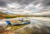 Blues (Nejdet Duzen) Tags: trip travel lake reflection nature turkey boat cloudy türkiye sandal hdr göl yansıma turkei seyahat manisa doğa bulutlu gölmarmara gölmarmaragölü golmarmaralake