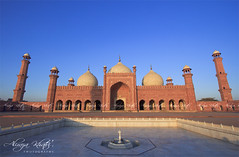 Badshahi Masjid Lahore (Aliraza Khatri) Tags: morning travel pakistan light detail building heritage pool architecture landmark punjab lahore badshahimasjid badshahi khatri travelandplaces minarate aliraza alirazakhatri