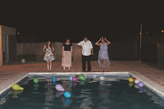 Day 221: 09/08/2014 (muffinswonderland) Tags: friends party summer pool night fun swimmingpool 365project