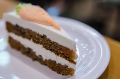 A piece of carrot cake for desert