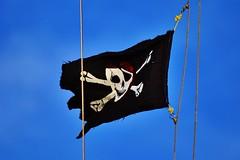 Pirates  l'abordage (Grandgi) Tags: flag pirates bandera fahne piratas drapeau piraten pirats 20140811estavayer