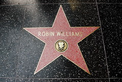 Robin's star on Hollywood Blvd (Magda of Austin) Tags: star rip sidewalk hollywood comedian actor hollywoodblvd robinwilliams