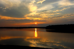 When you say nothing at all.. (Sam0hsong) Tags: sunset reflections cloudy north carolina lakecrabtree partlycloudy alisonkrause alsicebucketchallengejustdoitfolks