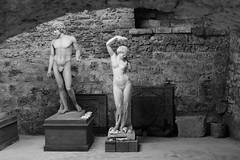 Vieux Couple (Le merle tourdi) Tags: france martin gray statues muse franchecomt baron vnus travaux hautesane agglos