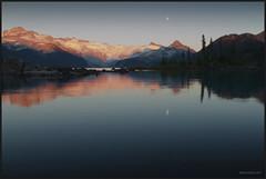 Lake Garibaldi Moonrise Sunset (Howie Muzika) Tags: canada landscape subalpine sphinxglacier borderfx lakegaribaldiprovincialpark