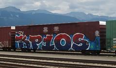 KP10S (YardJock) Tags: railroad metal graffiti steel some spraypaint boxcar asar oper freighttrain 2013 benching paintedsteel boxcarart kp10 benchreport