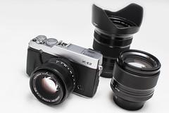 camera lens fuji fujifilm fujinon cameraobscura caméra coi lentille appareilphoto milc appareilphotographique mirrorlessinterchangeablelenscamera fujixf35mmf14 fujixe2 fujixf56mmf12 appareilphotographiquehybride compactàobjectifsinterchangeables fujixf1024mmf4ois