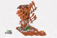 Euosmos's Windmill (Gunman (Giorgos Solomonidis)) Tags: castle windmill landscape lego medieval flour goh spikes aom gunman lurikeen mitgardia