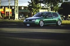Panera Chillin (Chris Whit) Tags: green vw golf volkswagen low automotive static gti lowered dropped hatchback slammed stance mkiv mk4 ravegreen fitment worldcars