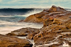 Seascape 1 (loobyloo55) Tags: sunset sea seascape water rocks wave australia cronulla