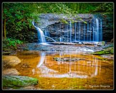 Reflective Gravity (augphoto) Tags: nature water outdoors us waterfall unitedstates scenic southcarolina clevland augphotoimagery
