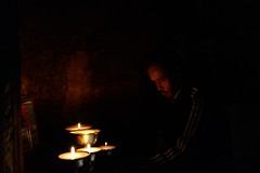 Mngmaar - guide, friend, driver and fellow pilgrim (pranav_seth) Tags: light india lamp monastery lamps himachal himalayas spiti himachalpradesh incredibleindia dhankar dhankaar