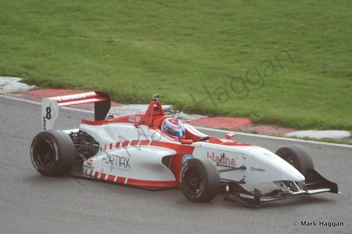 George Russell in his Lanan Racing BRDC F4 car at Brands Hatch
