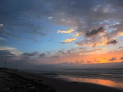 2014-09-20 17.46.53 (pang yu liu) Tags: park wood sunset sea windmill coast cloudy dusk 09 sep seashore   typhoon drift  2014       areovane