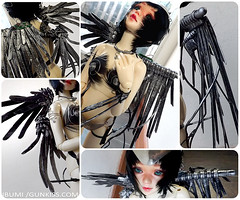 Challenge 1: My Angel!- Collage (Ibumi) Tags: angel self ball 1 outfit wings doll great den contest feather made angels wig bjd triathlon challenge abjd cyberpunk doa exalted the jointed unoa lusis ibumi