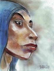 Untitled-1 (judafuta) Tags: portrait woman art girl female faces distorted pastel