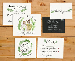 Woodland wedding stationery (Maddie Joyce) Tags: wedding fall love nature ink woodland watercolor typography couple marriage savethedate invitation calligraphy custom stationery rsvp handlettered